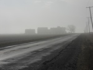 Farm House in Fog. Presque Isle, ME